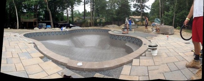 In-ground Pool Install Salem NH -Liner